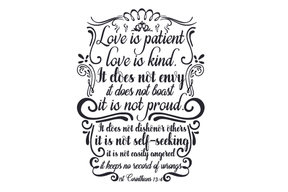 """Download """"Love is Patient, Love is Kind..."""" (SVG Cut file) by ..."""