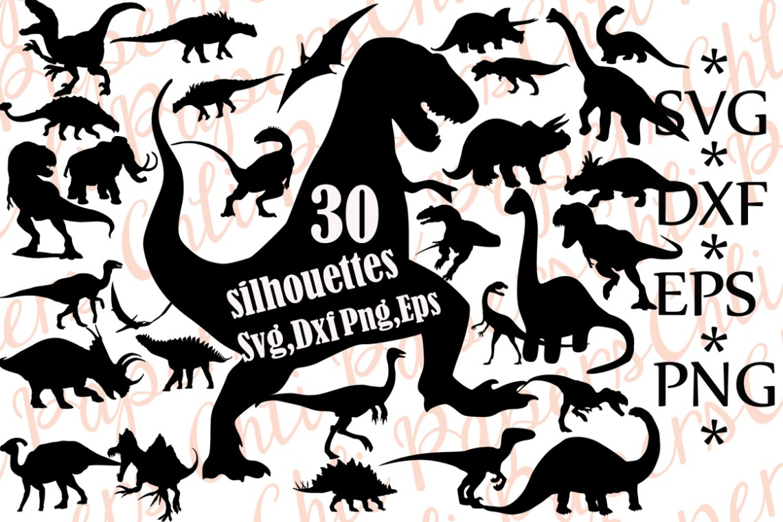 Download Dinosaurs Silhouettes Svg Graphic by ChiliPapers ...