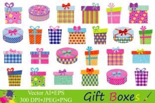 Gift Boxes Clipart Birthday Party Presents Clip Art Gifts Vector Graphics Present Illustrations Grafik Von Vr Digital Design Creative Fabrica