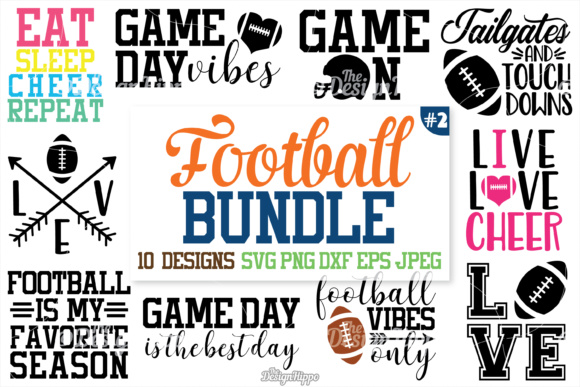 Download Football SVG Bundle (Graphic) by thedesignhippo · Creative ...