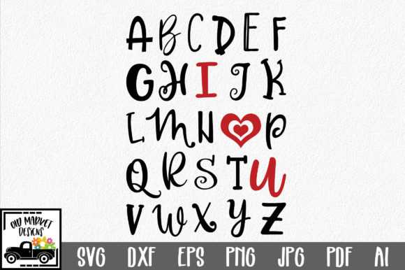 Download ABC I Love You SVG Cut File (Graphic) by oldmarketdesigns ...