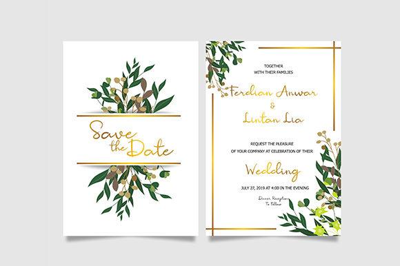 Leaf Wedding Invitation Template