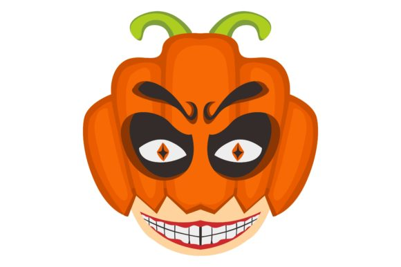 Scary Halloween Pumpkin Head Vector Graphic By Arief Sapta Adjie Creative Fabrica