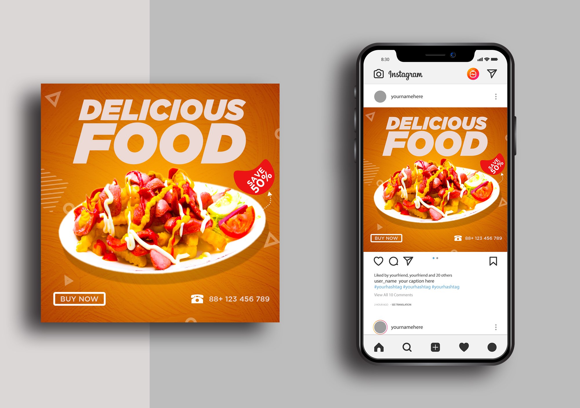 creative social media poster design