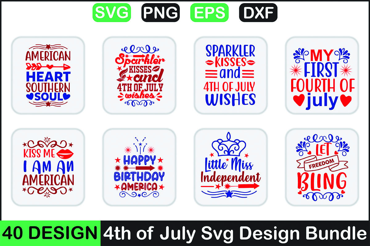 4th July SVG Design Bundle