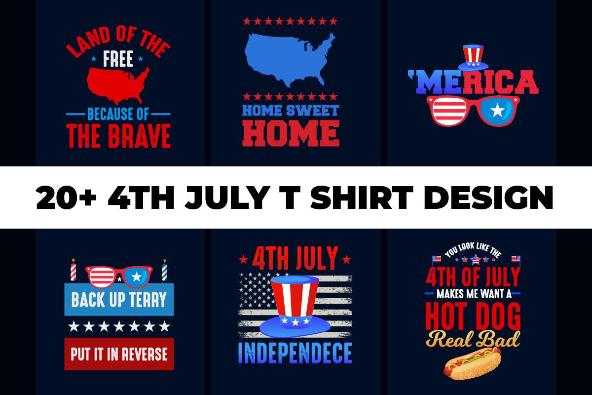 4th July T-Shirt Design Bundle