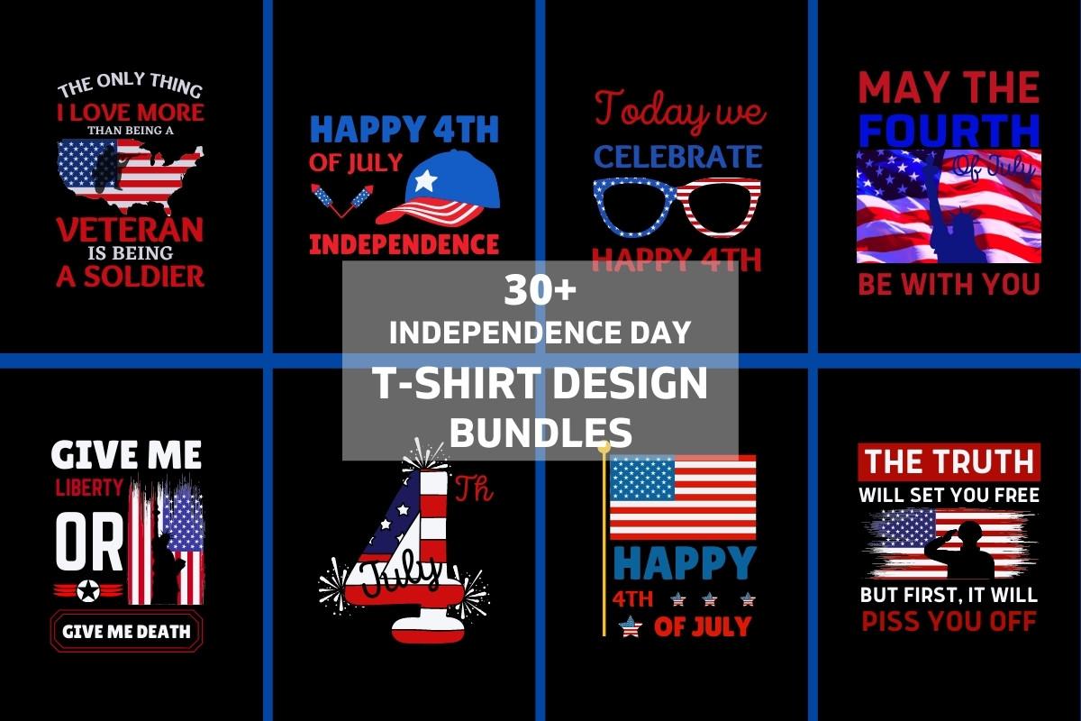 4th of July T-Shirt Design Bundle