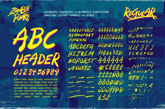 Zombie Punks Fonts 15014480 3