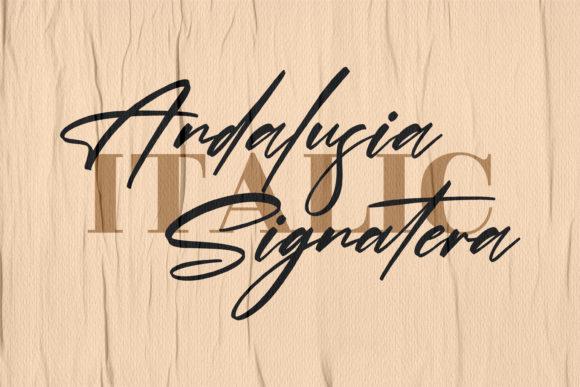 Andalusia Signatera Fonts 15130946 2