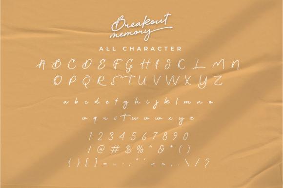 Breakout Memory Fonts 17721221 4