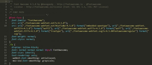 Fontawesome CSS