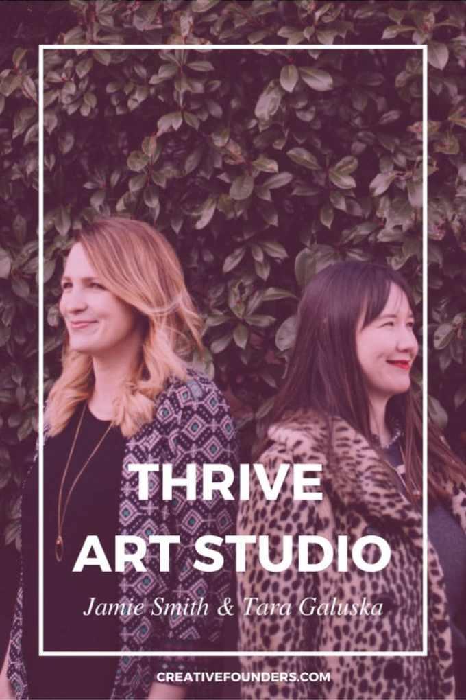 In The Studio With Tara Galuska of THRIVE Art Studio ...