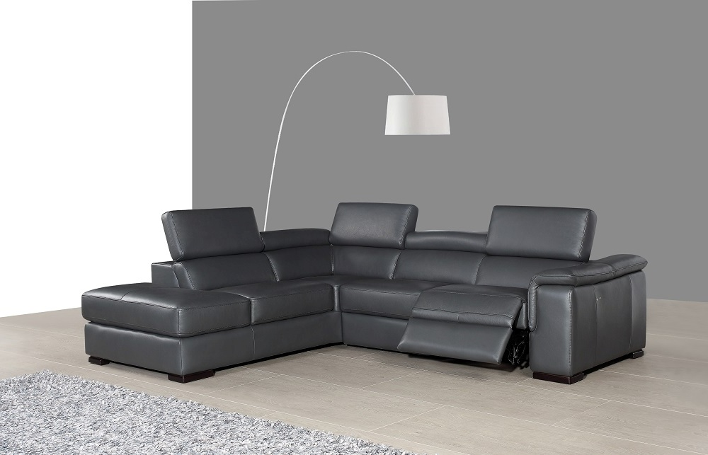Agata Leather Sectional Leather Power Reclining