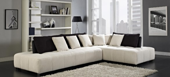 Modern Sectional Sofas  Contemporary Living Room Sofa Sets NY  NJ Almira Sectional Sofa by Creative Furniture