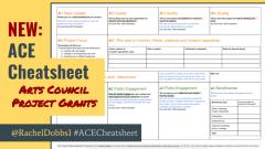 Arts Council England Project Grans Cheat Sheet