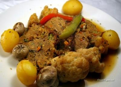 asado de tofu y seitan