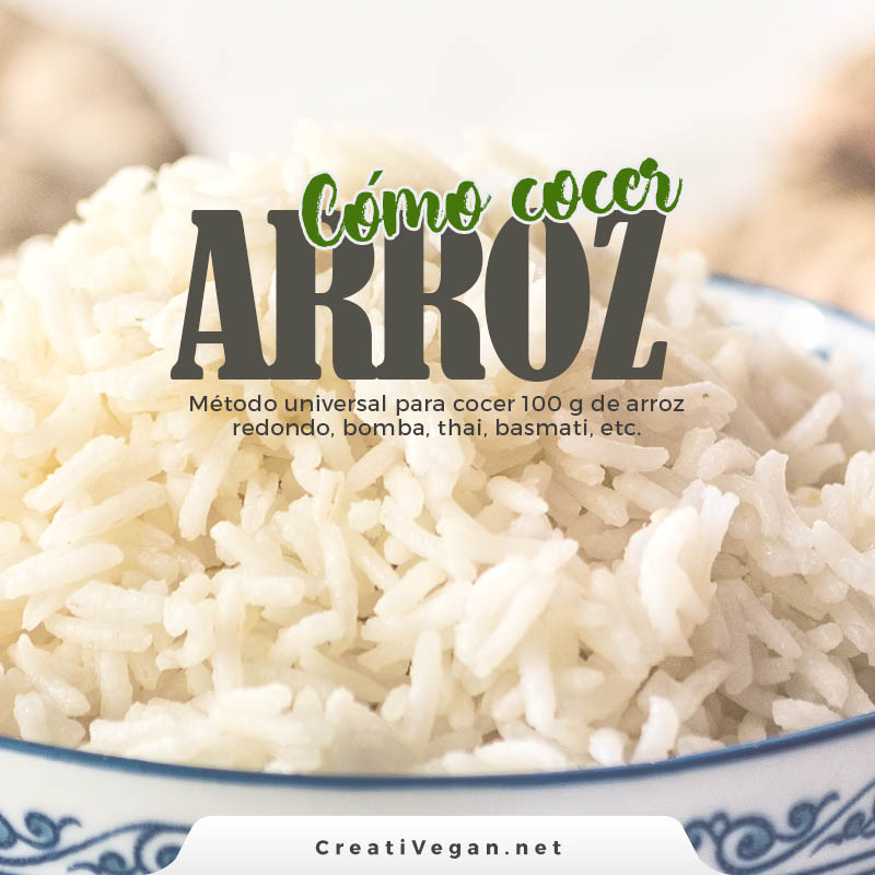 cocina para principiantes: cómo cocer arroz | CreatiVegan.net