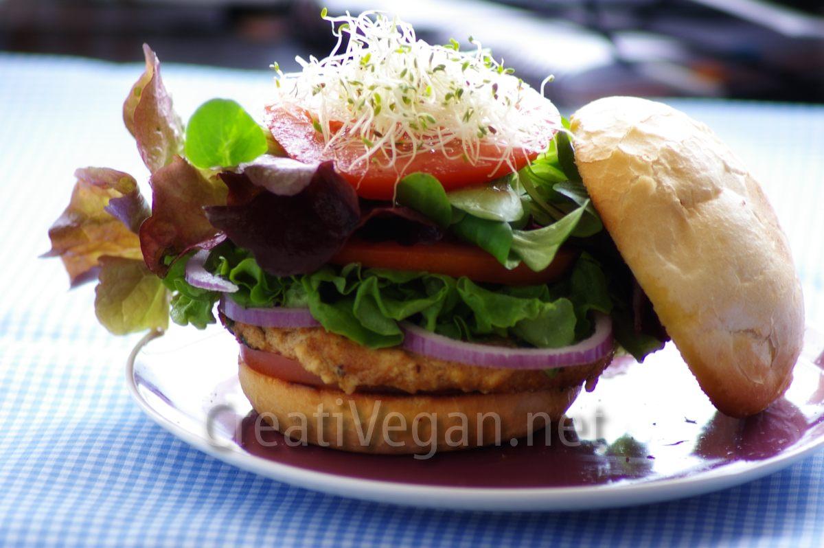 Hamburguesa de tofu espinacas y espelta - Hacer hamburguesas vegetarianas ...