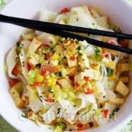 Tallarines de arroz al toque de limón