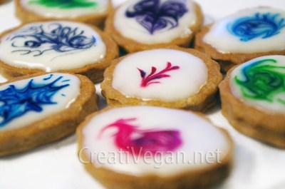 "galletas ""suminagashi"" veganas"