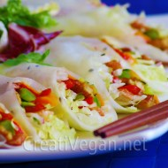 Rollitos vietnamitas con tempeh y verduras
