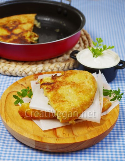 Tortilla vegana de calabacín