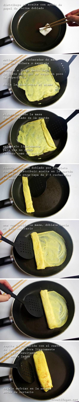 Tutorial para hacer tamagoyaki vegano