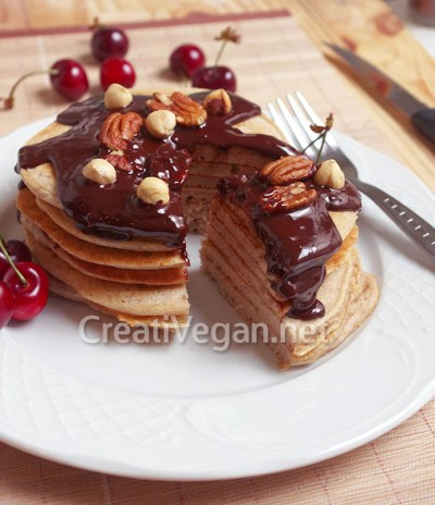 Tortitas de trigo sarraceno con avellanas