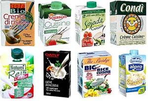 Ejemplos de natas para cocinar 100% vegetales