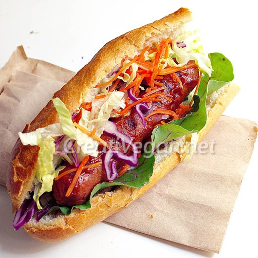 Salchichas veganas, prueba 1