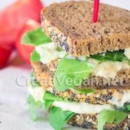 Ensalada de patata con pepino y veganesa