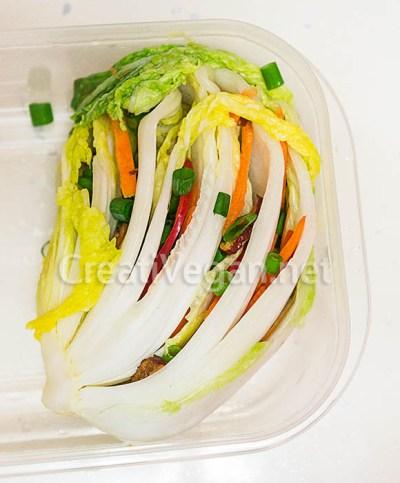 Baek-kimchi listo para fermentar