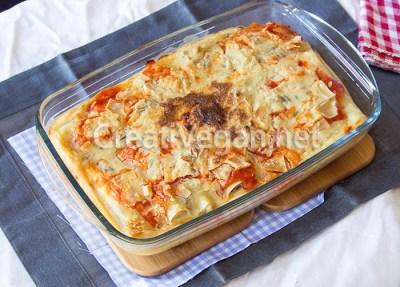 Canelones de patata y seitán