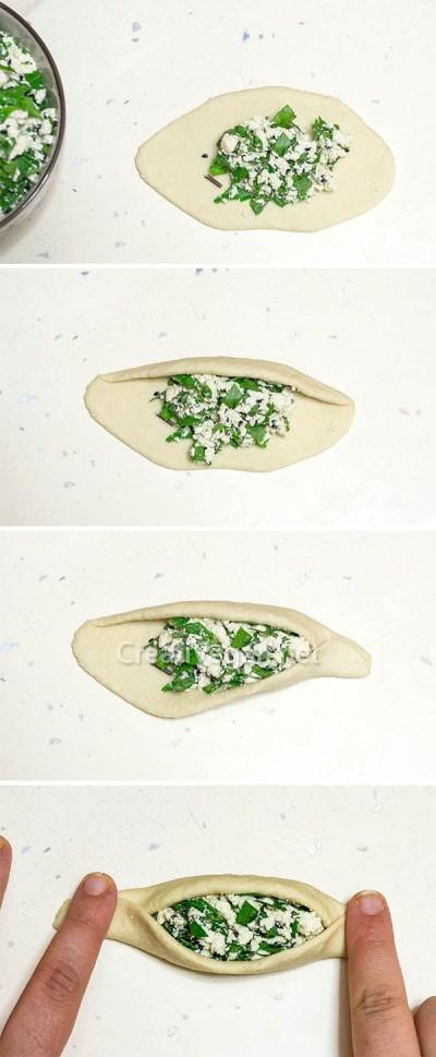 Rellenando fatayer vegetal