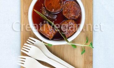 Chorizos veganos a la sidra