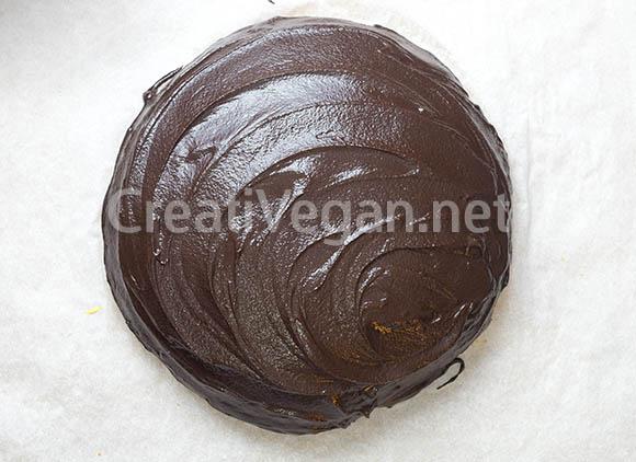 Preparación de cuñas de chocolate veganas