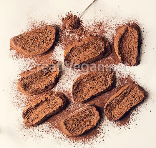Torrijas veganas de chocolate - proceso
