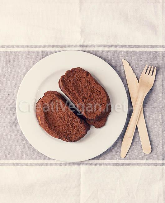 Torrijas veganas de chocolate