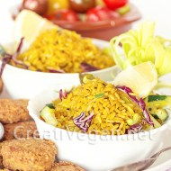 Ensalada de arroz integral al curry