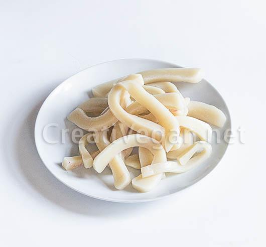 Tallarines de arroz gruesos