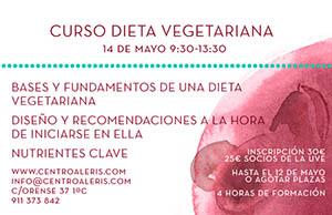Curso alimentación vegetariana y vegana saludable - Centro Aleris