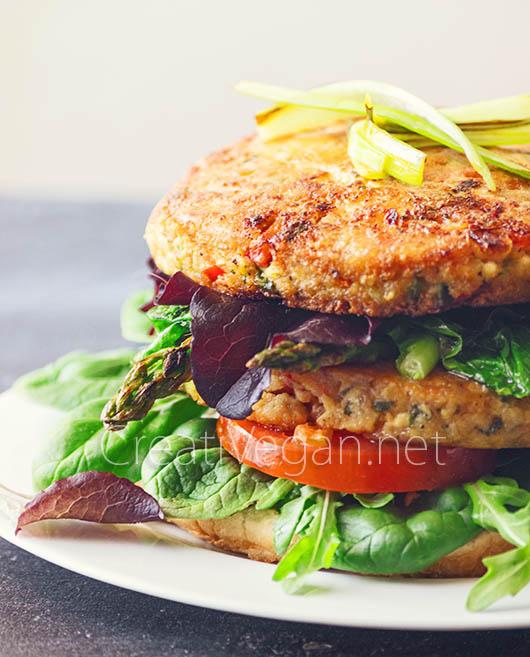 Luciburgers (hamburguesas de tofu y verduras) - CreatiVegan.net