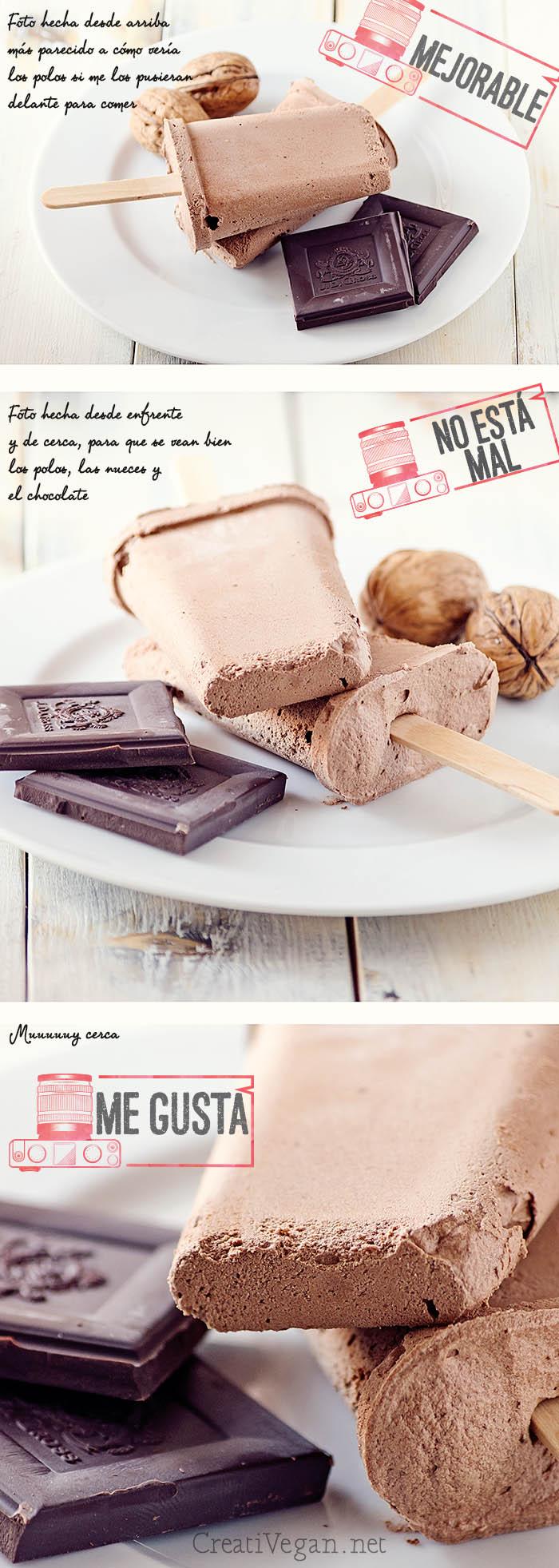 Polos de chocolate - elección de fotos - CreatiVegan.net
