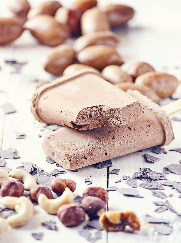 Polos de trufa con mantequilla de cacahuete - CreatiVegan.net