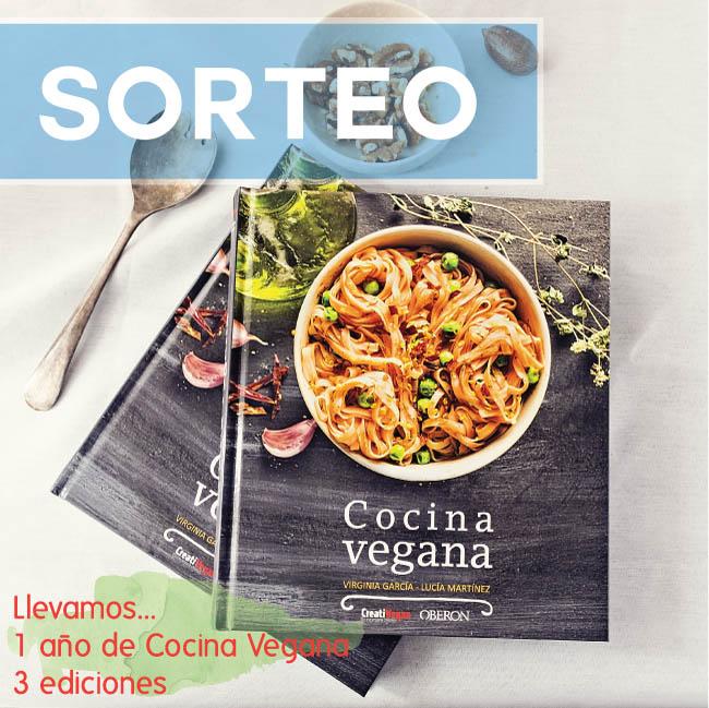 Sorteo de 1 libro Cocina Vegana, de Virginia García (CreatiVegan) y Lucia Martínez (DimeQuéComes)