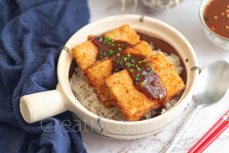 Tofu-katsu marinado