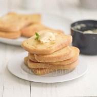 Torrijas veganas sin gluten sabor crema pastelera