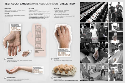 cancer guerilla marketing example