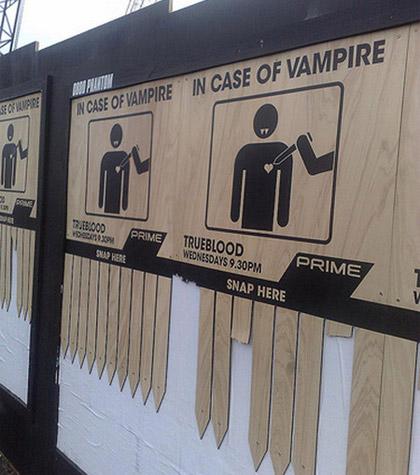 vampire guerilla marketing advertisement