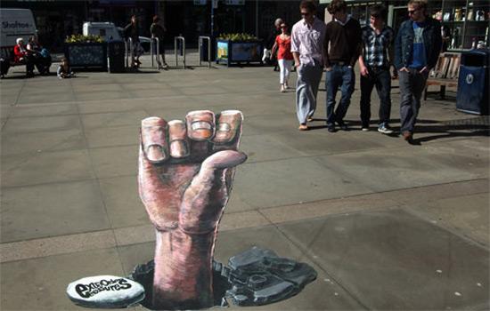 544e9d02253e52bb75504b3f0b363b28 55+ Amazing 3D Street Art Guerrilla Marketing Examples Guerilla Marketing Example